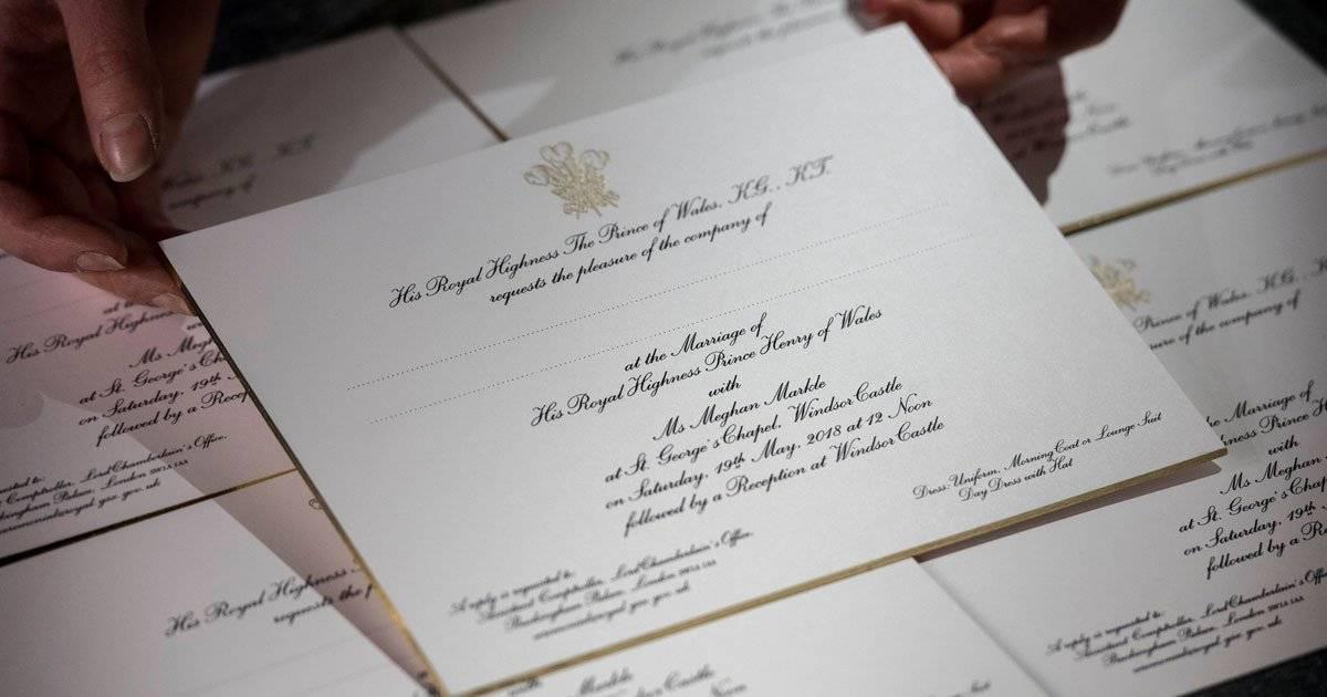 convite casamento Harry e Meghan Markle
