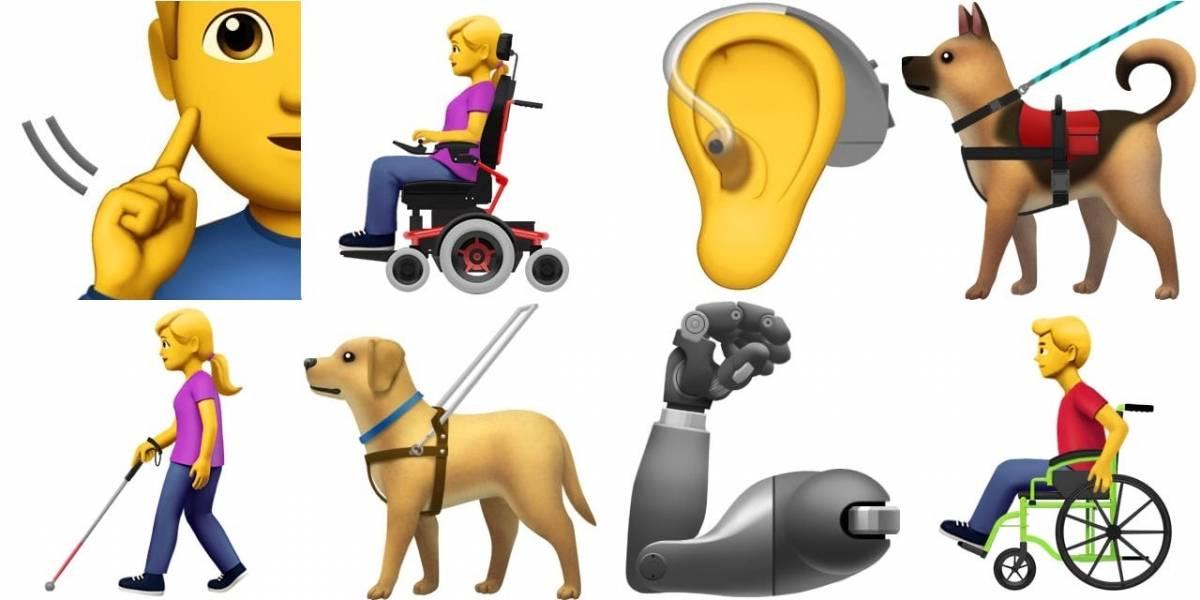 Apple presenta 13 nuevos emojis para representar a la gente con alguna discapacidad