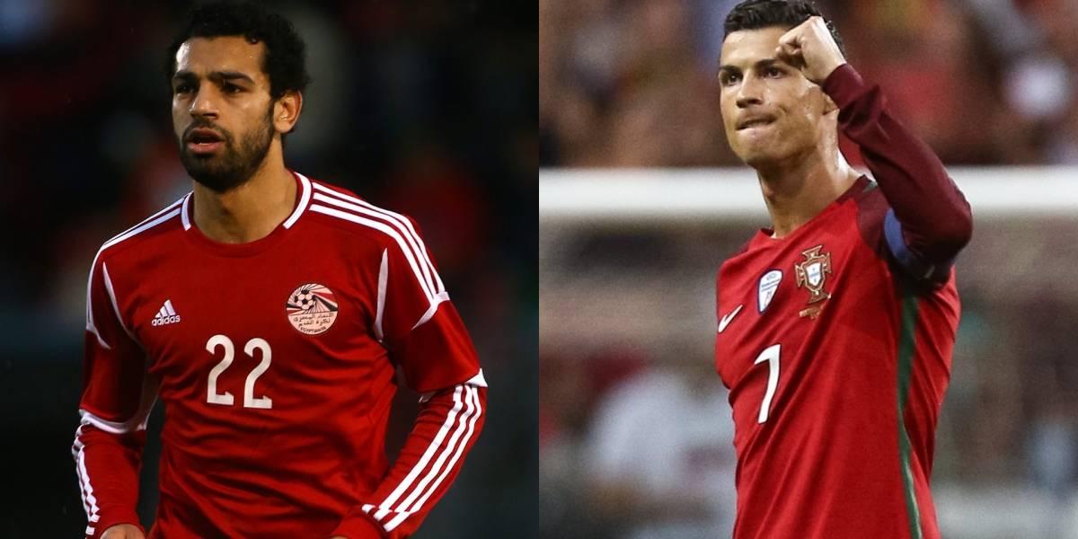 Portugal y Cristiano chocan contra Egipto y Salah