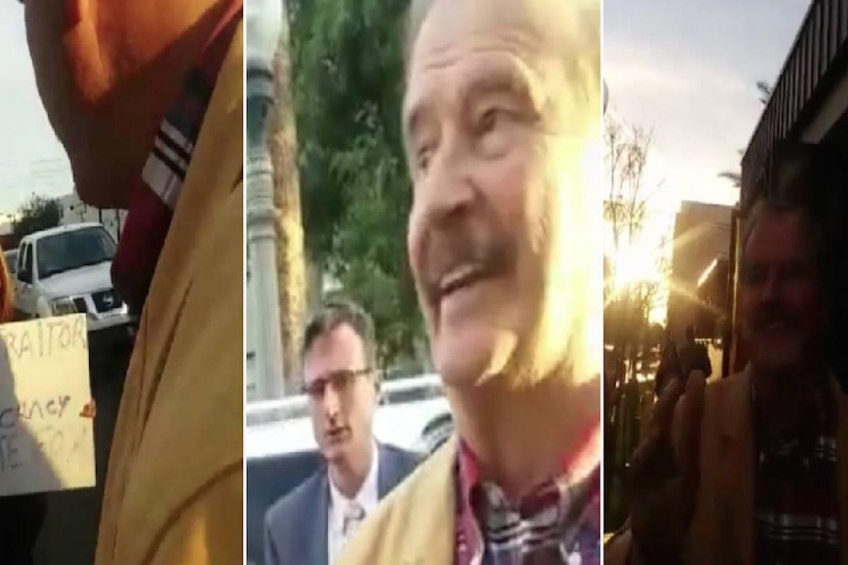 'Parásita tu abuela', explota Vicente Fox contra manifestantes