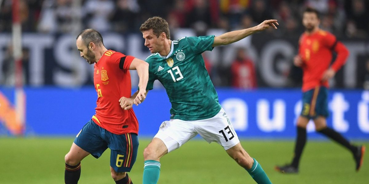 Alemania y España mostraron un buen fútbol e igualaron en intenso amistoso