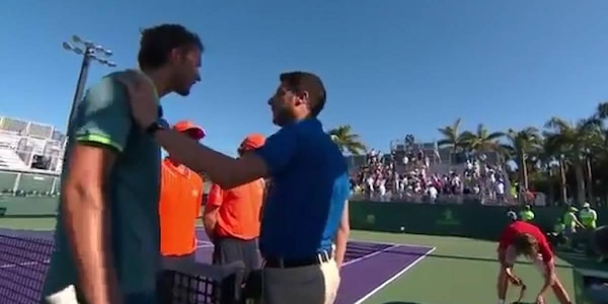 VIDEO: 'Ruso de mierda', tenistas casi llegan a los golpes por insulto en Miami