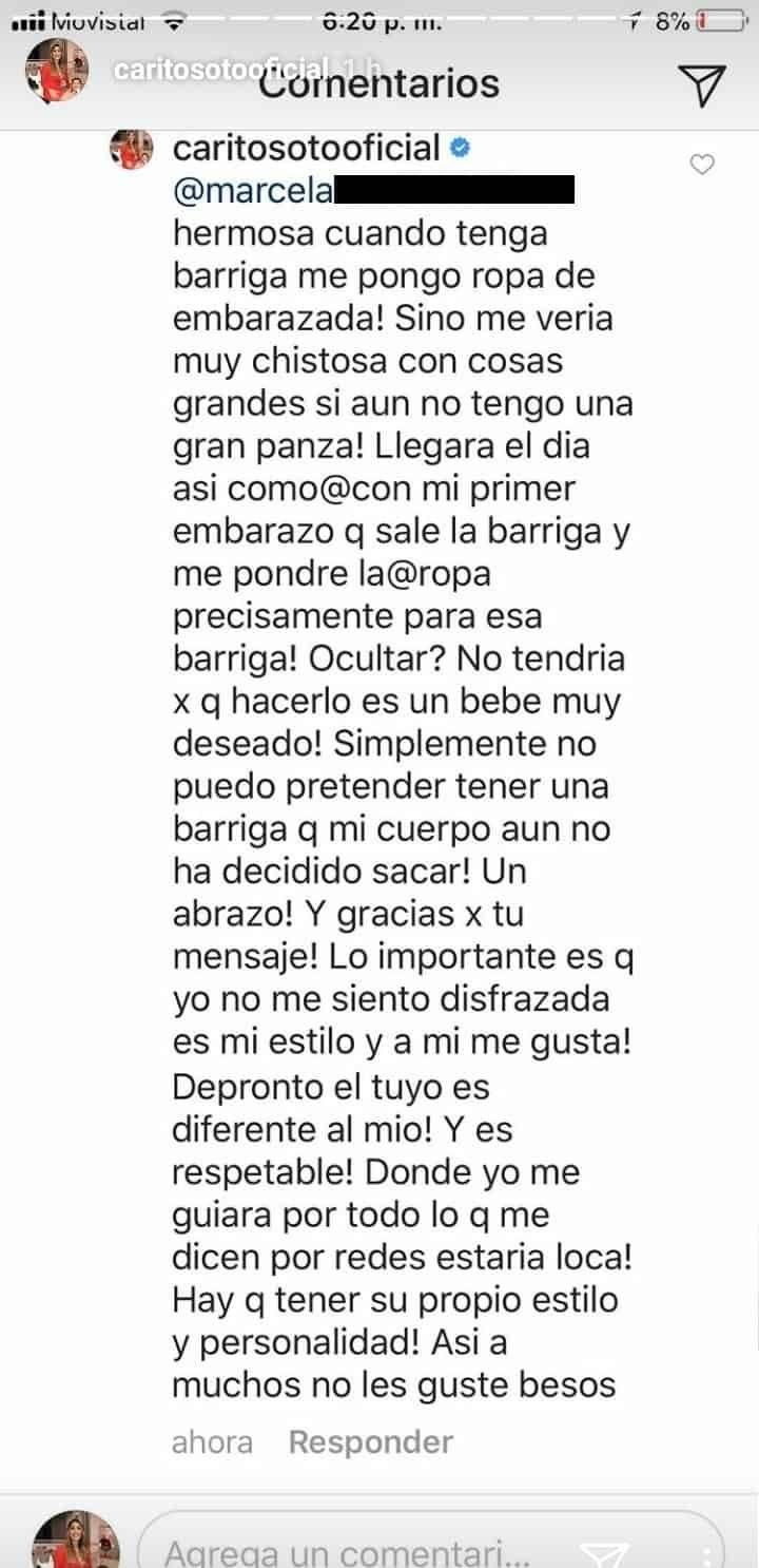 Respuesta Carolina Soto