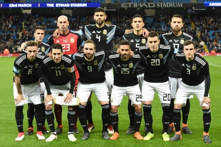 La selección de Argentina en un amistoso
