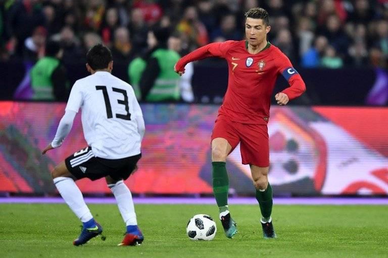 Cristiano Ronaldo en un partido con Portugal