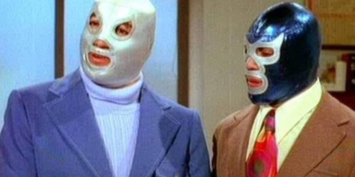 La imagen de Santo y Blue Demon que inmortalizó las figuras de luchadores