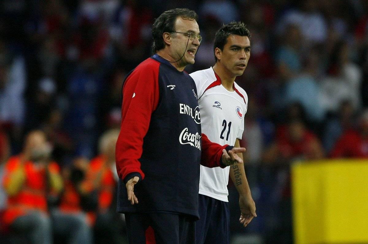 Bielsa y Paredes, dos protagonistas del amistoso ante Dinamarca en 2009 / imagen: Photosport