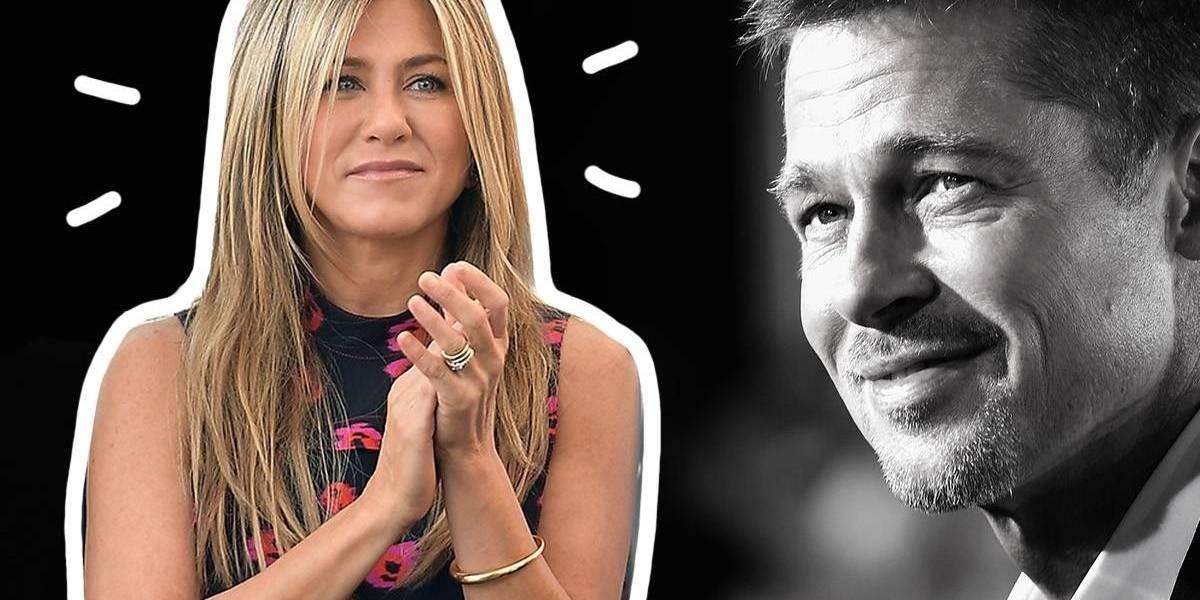 Foto mostra Jennifer Aniston e Brad Pitt juntinhos e indica retorno do casal