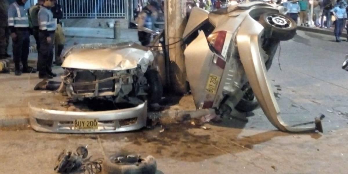 Dos muertos dejó accidente por 'piques' a alta velocidad en Santa Marta