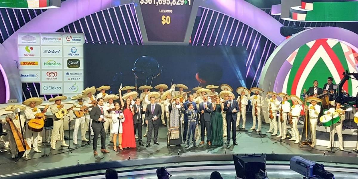 Con el lema México de pie da comienzo el Teletón