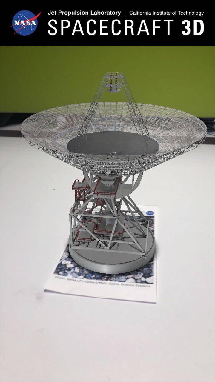 Spacecraft 3D: La aplicación de realidad aumentada que lanzó la NASA