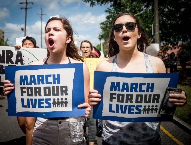 Marcha contra las armas en Estados Unidos