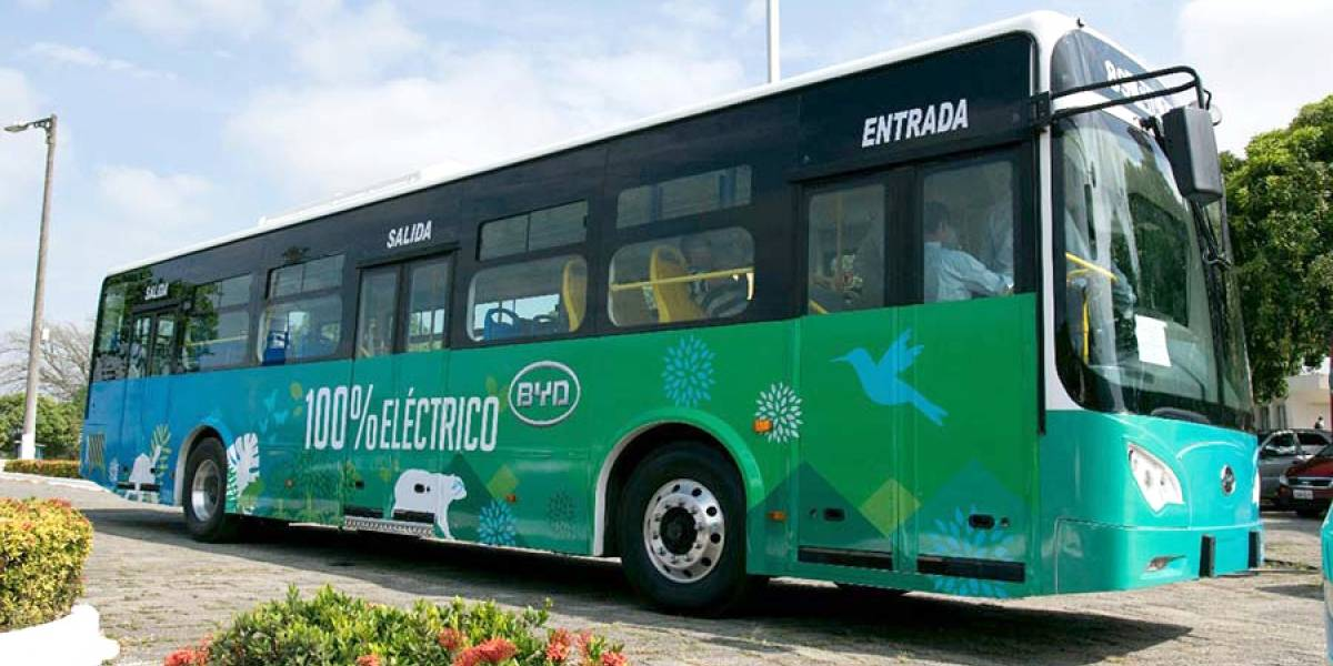Bus eléctrico recorrerá Guayaquil