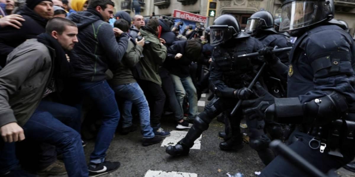 Manifestaciones pro Puigdemont dejan 98 heridos y nueve detenidos en España