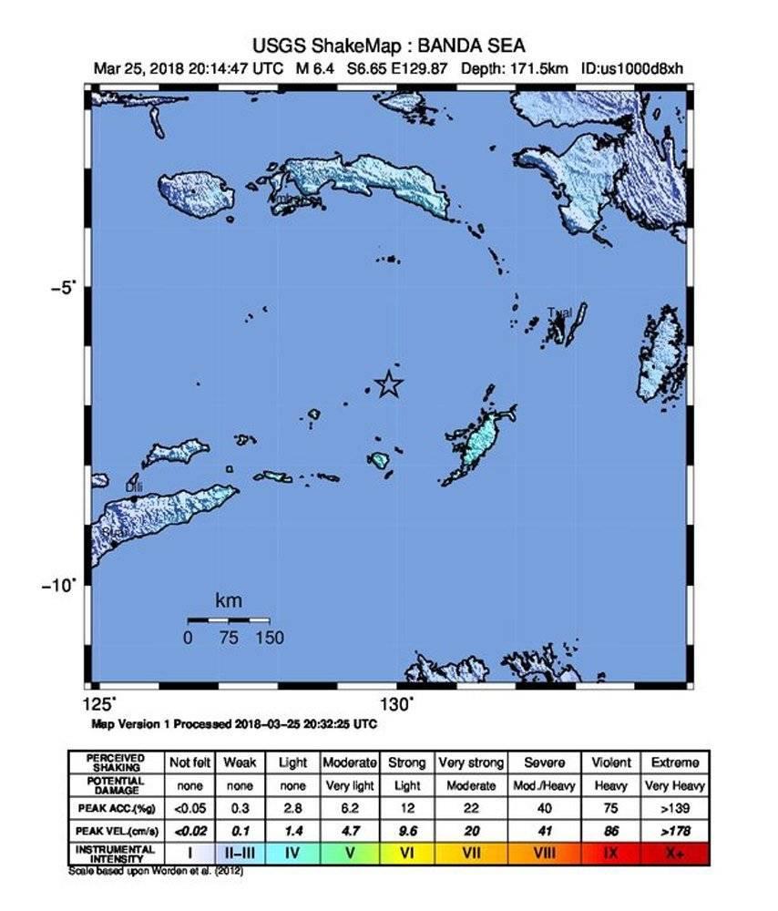 Emiten alerta de tsunami en Indonesia por terremoto