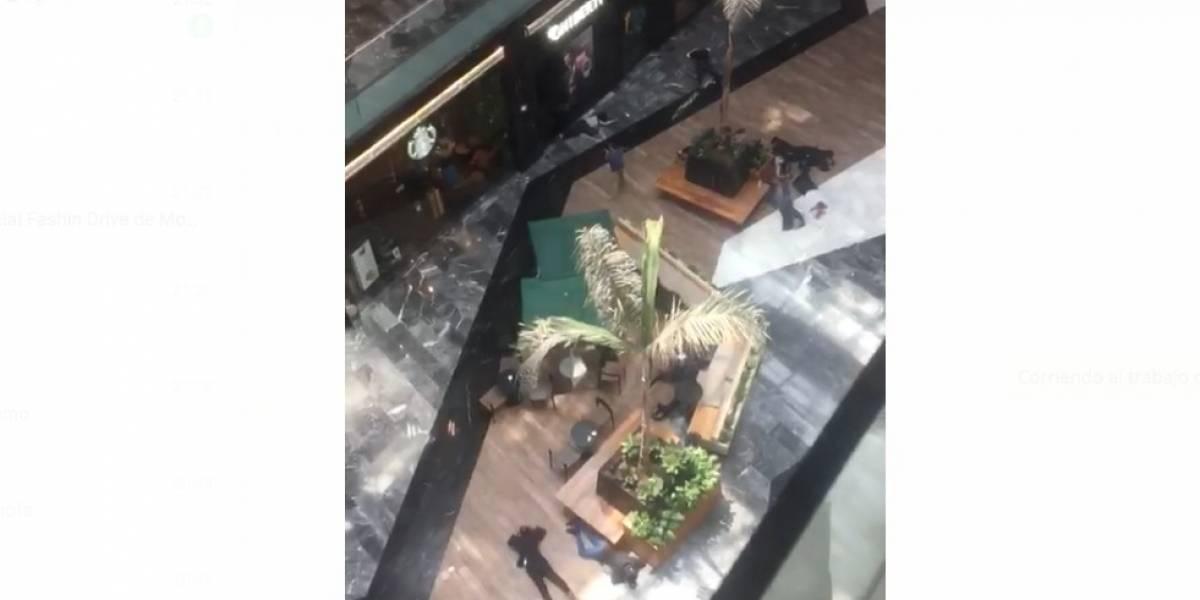 Video de simulacro de asalto en centro comercial causa pánico en WhatsApp