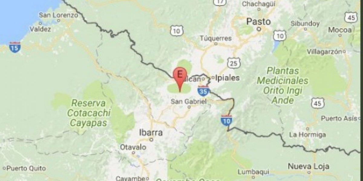 Se registró sismo de 3.4 en San Gabriel, provincia del Carchi