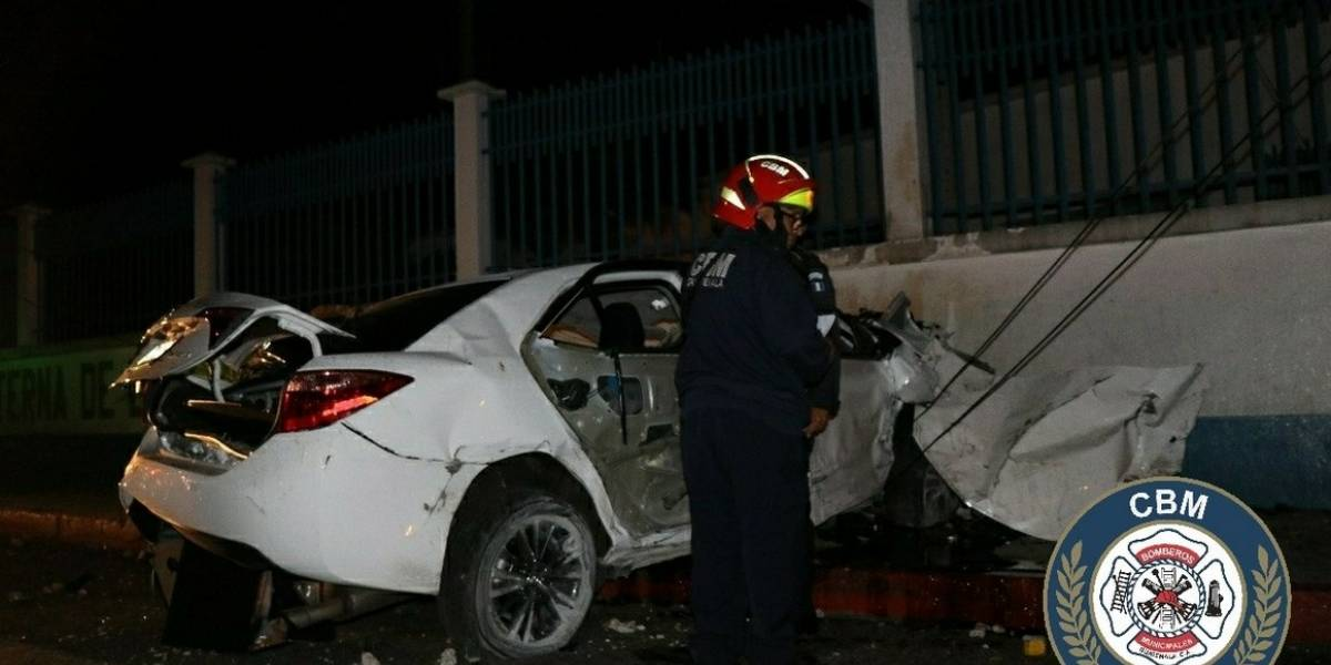 Personas resultan heridas al caer en paso a desnivel de la avenida La Castellana