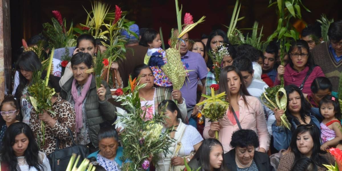 La fe católica se reafirma en el Domingo de Ramos más tradicional de Quito
