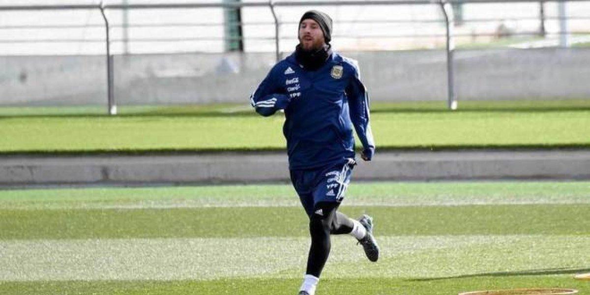 Messi reaparece en entrenamiento con Argentina