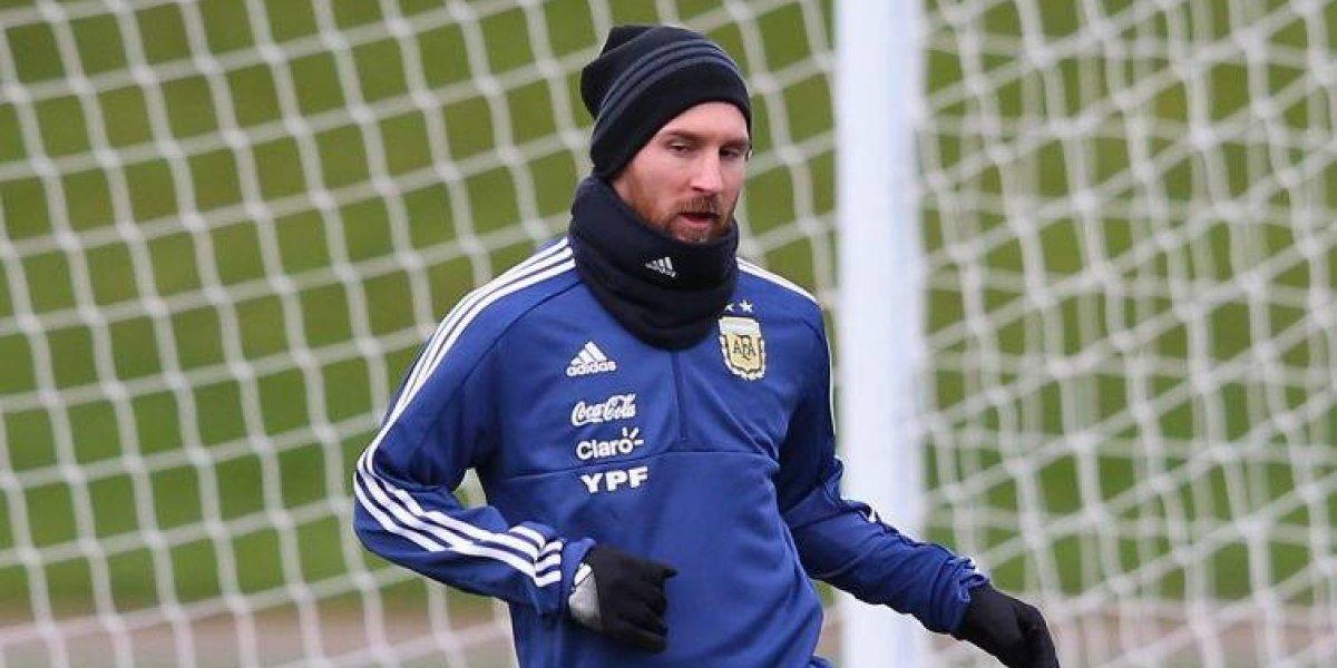 Lionel Messi entrenó con normalidad en Argentina y podría jugar contra España
