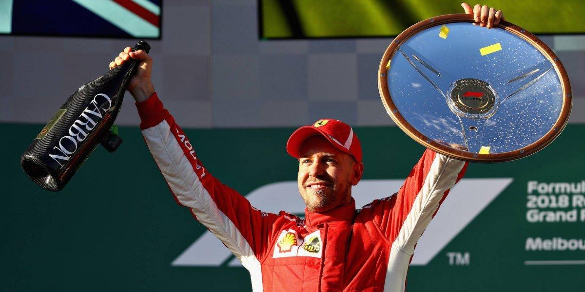 Sebastian Vettel obtiene la de cuadros en Australia