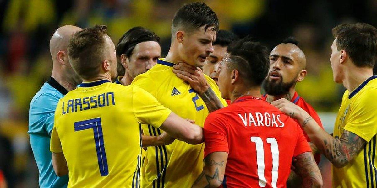 En Suecia están enojados por el triunfo de la selección chilena y criticaron una polémica acción