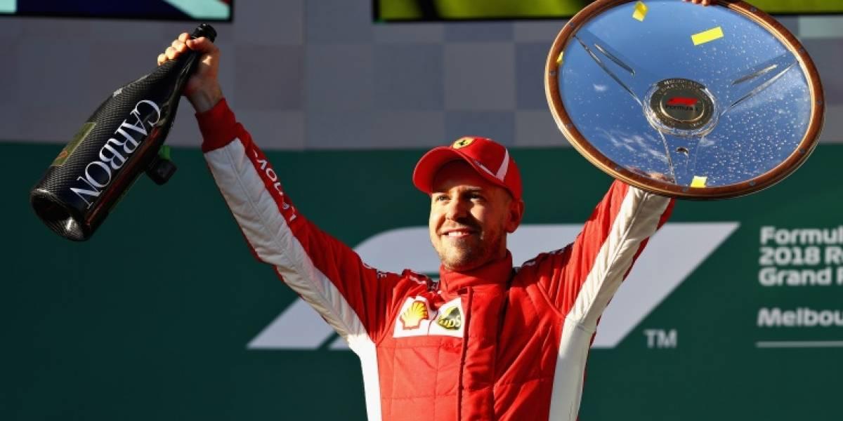 Vettel aguantó a Hamilton y venció en el Gran Premio de Australia