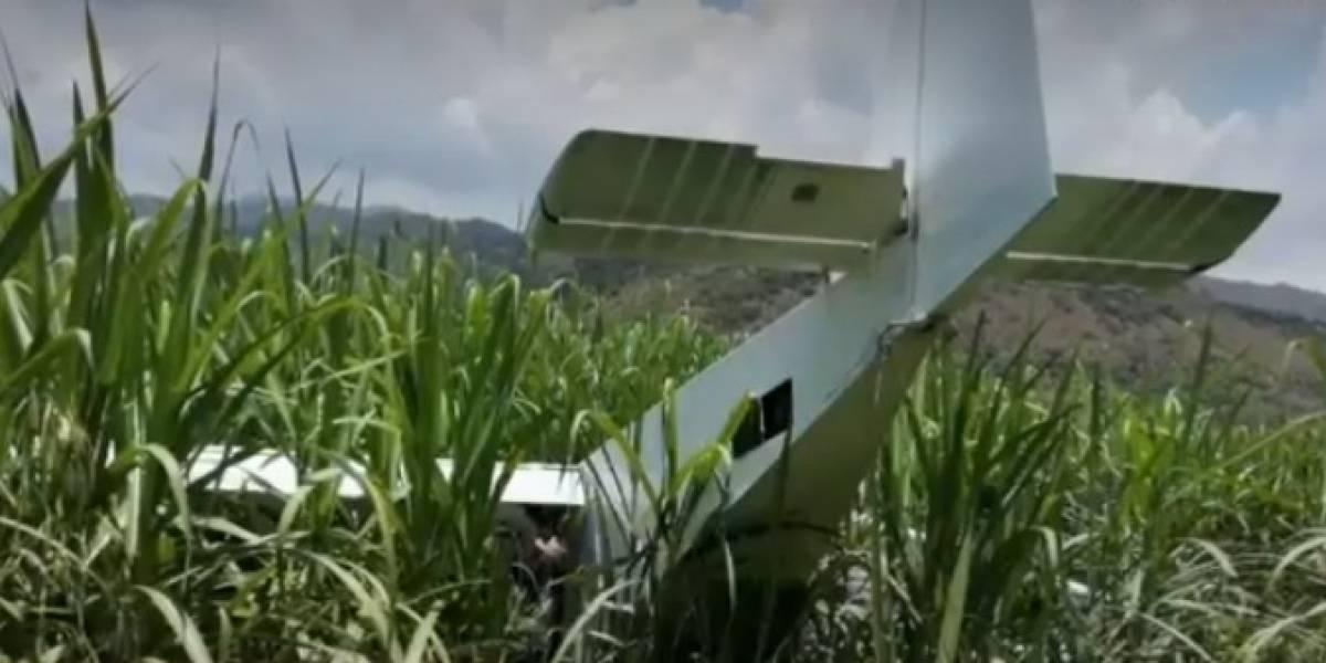 Extraña avioneta cayó en un cañaduzal y su piloto huyó