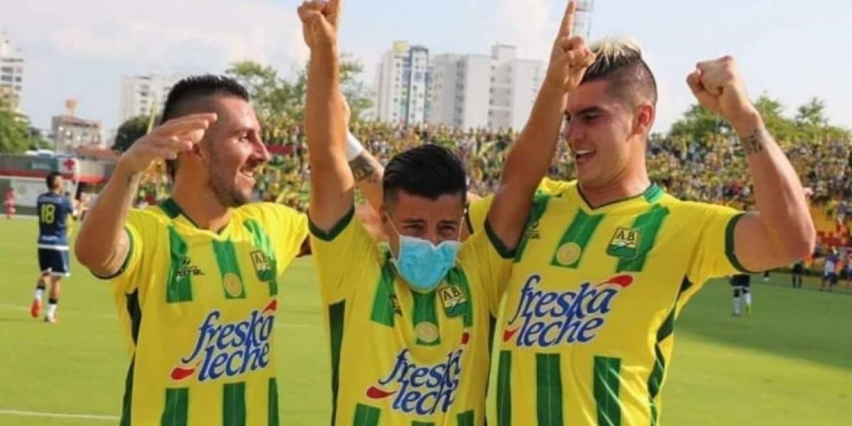 La triste razón por la que Sherman Cárdenas lloró en la celebración de su gol con Bucaramanga
