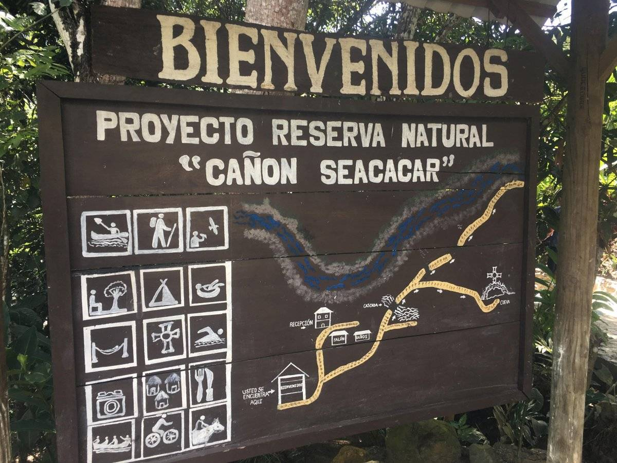 Cañón Seacacar, Izabal