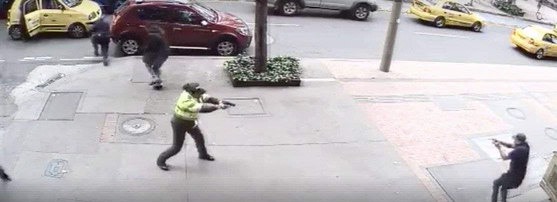 Patrullera herida en balacera en el centro de Bogotá