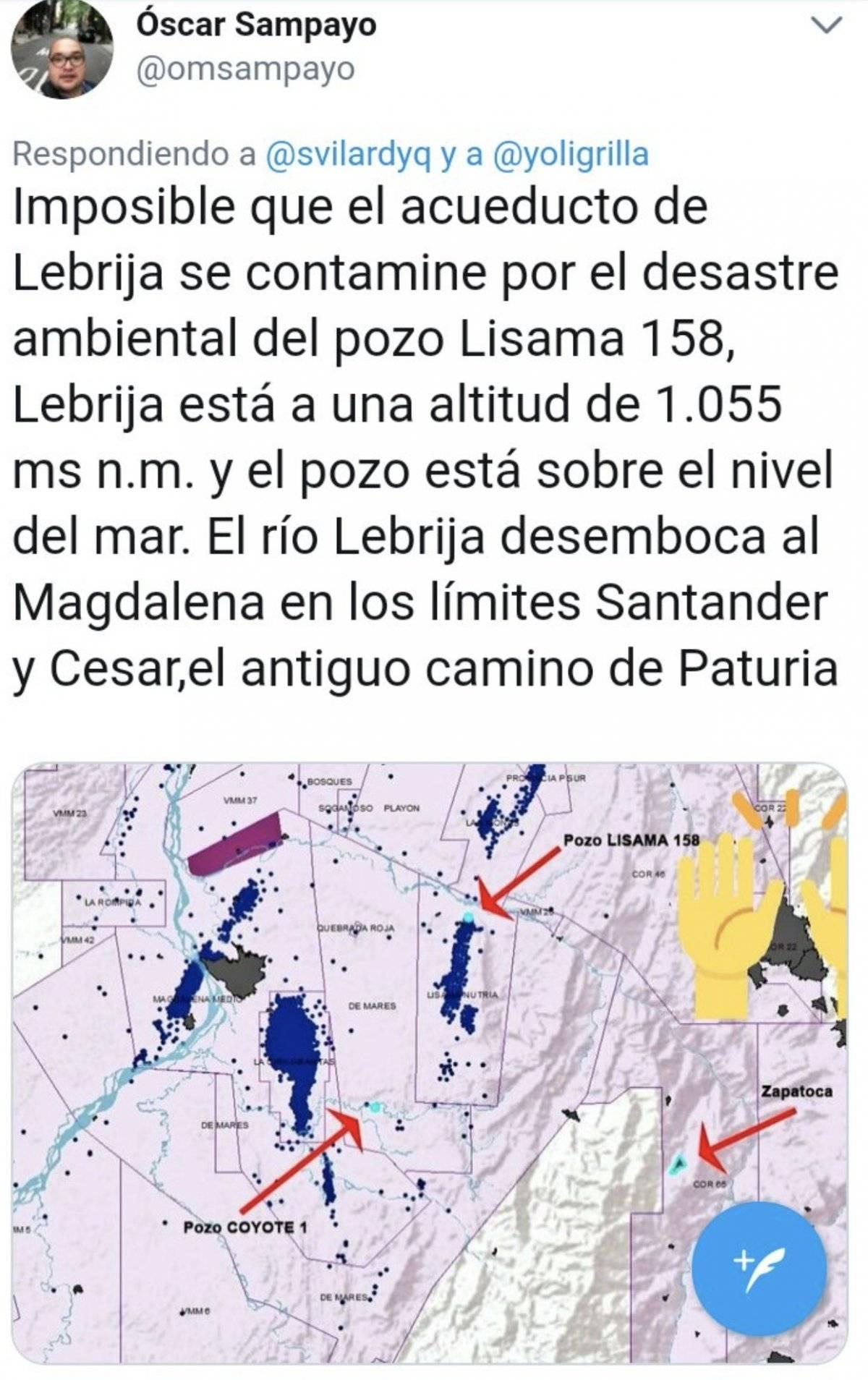 derrame petróleo Lebrija