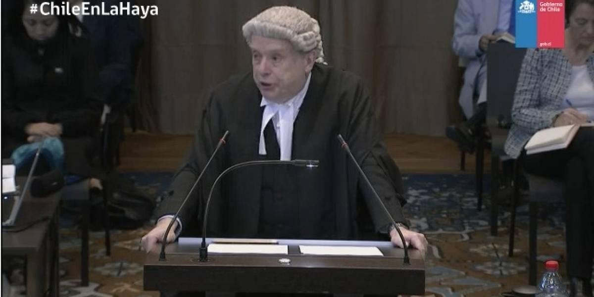 """Alegatos en La Haya: abogado inglés advierte que si Chile no negocia con Bolivia se podría """"alterar"""" la paz"""