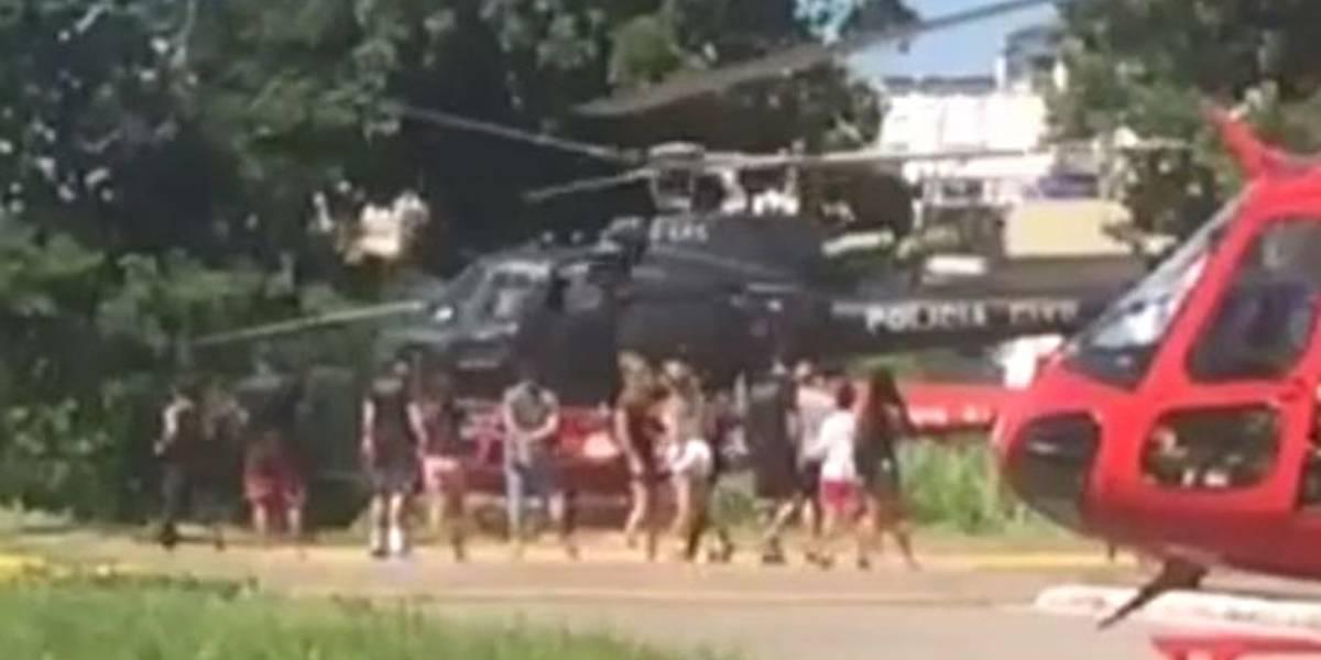 Mulher flagra helicóptero da Polícia Civil sendo usado para passeio