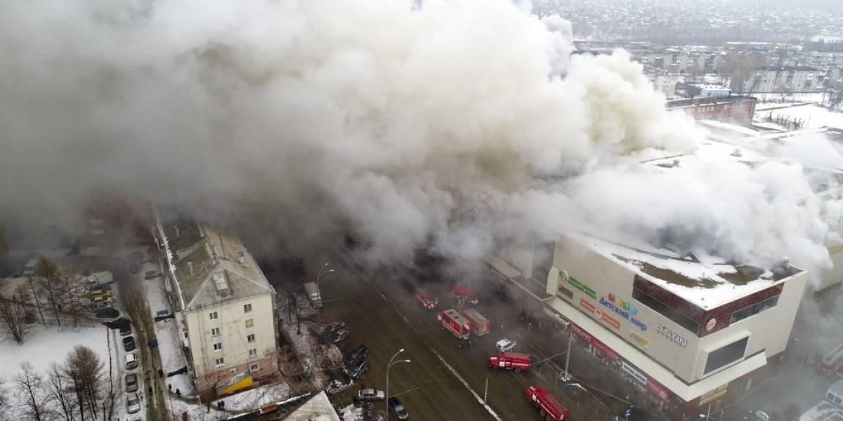 FOTOS. Incendio en centro comercial de Rusia deja más de 60 muertos