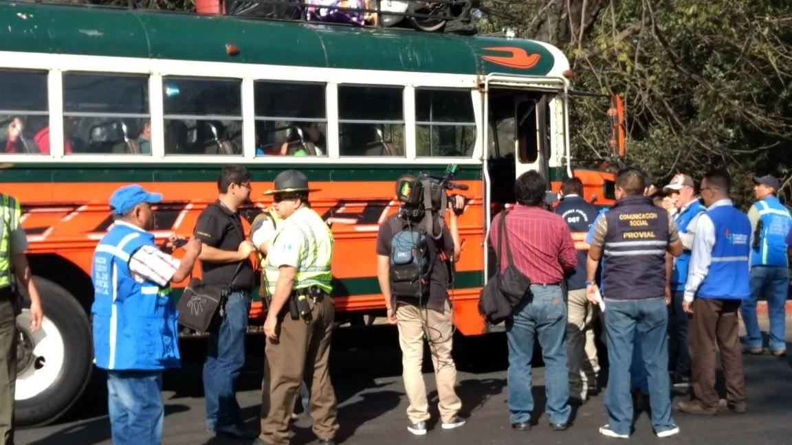 operativos de verificación de autobuses