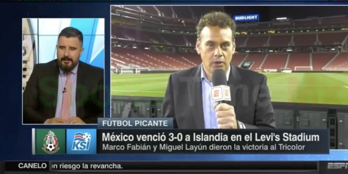 VIDEO: Álvaro Morales corre a David Faitelson de Futbol Picante