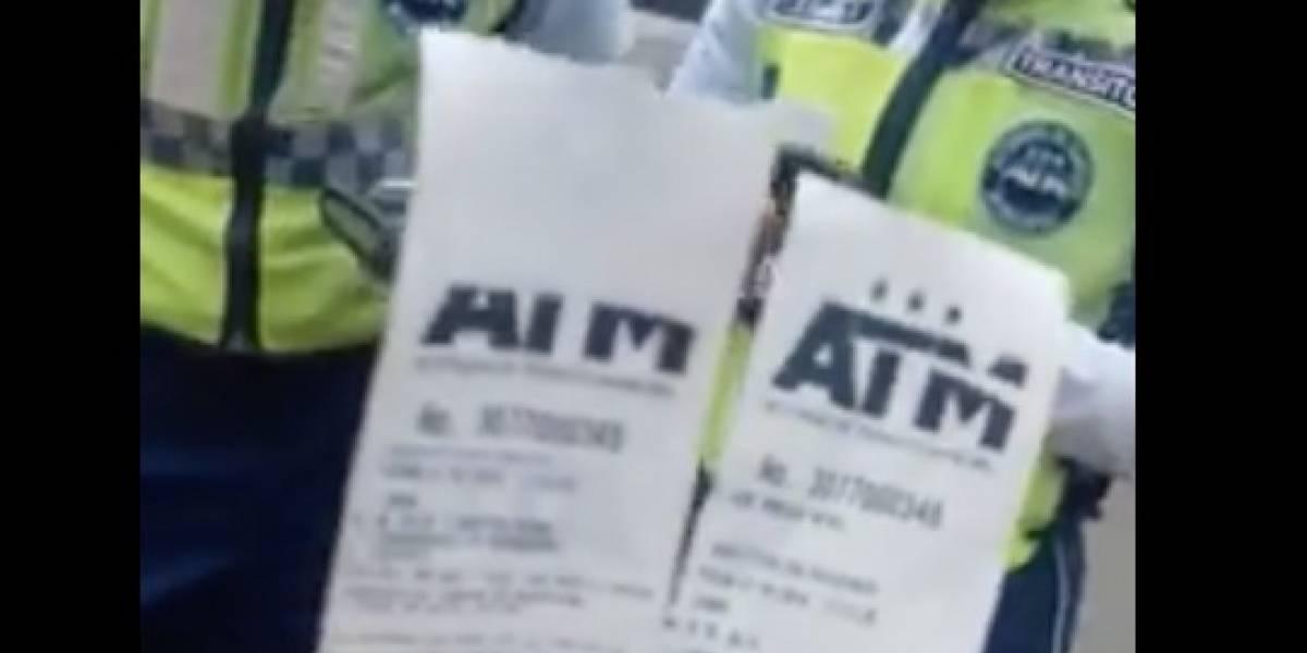 ATM se pronuncia tras video viral de '4 citaciones en un mismo lugar'