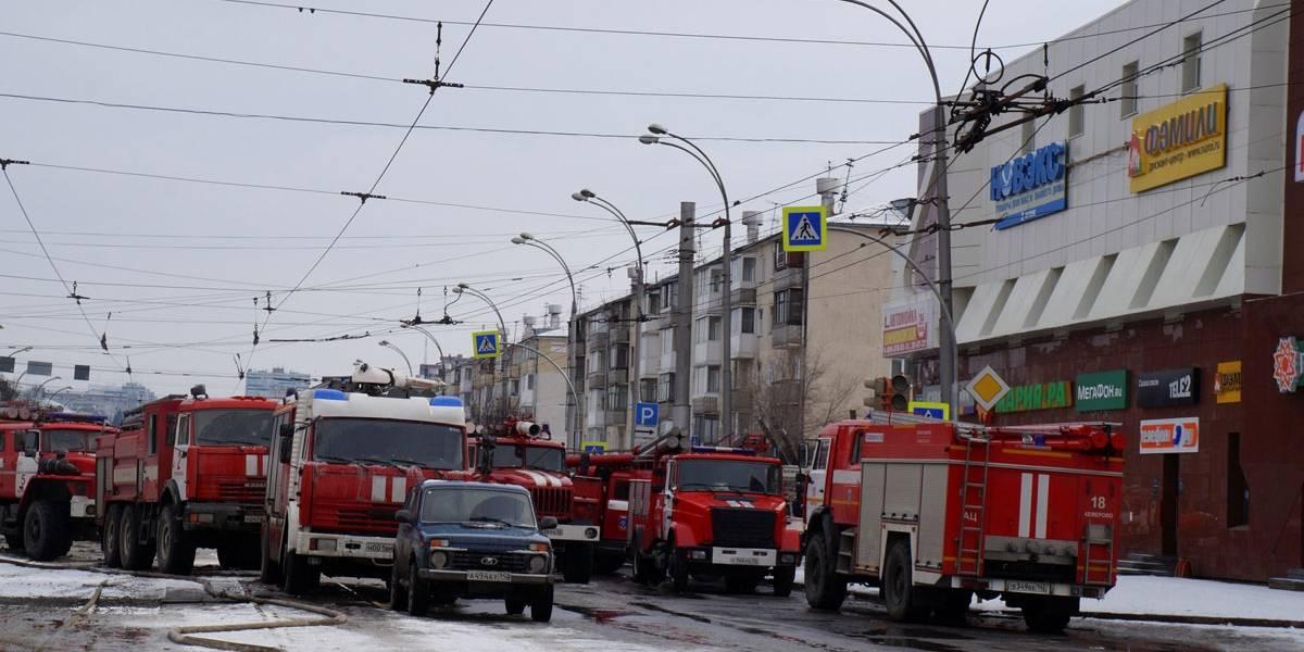 Número vítimas em incêndio em shopping na Sibéria sobe para 53