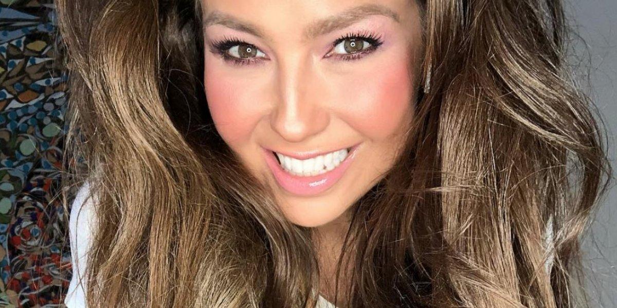 Critican la cintura de Thalía a sus 46 años