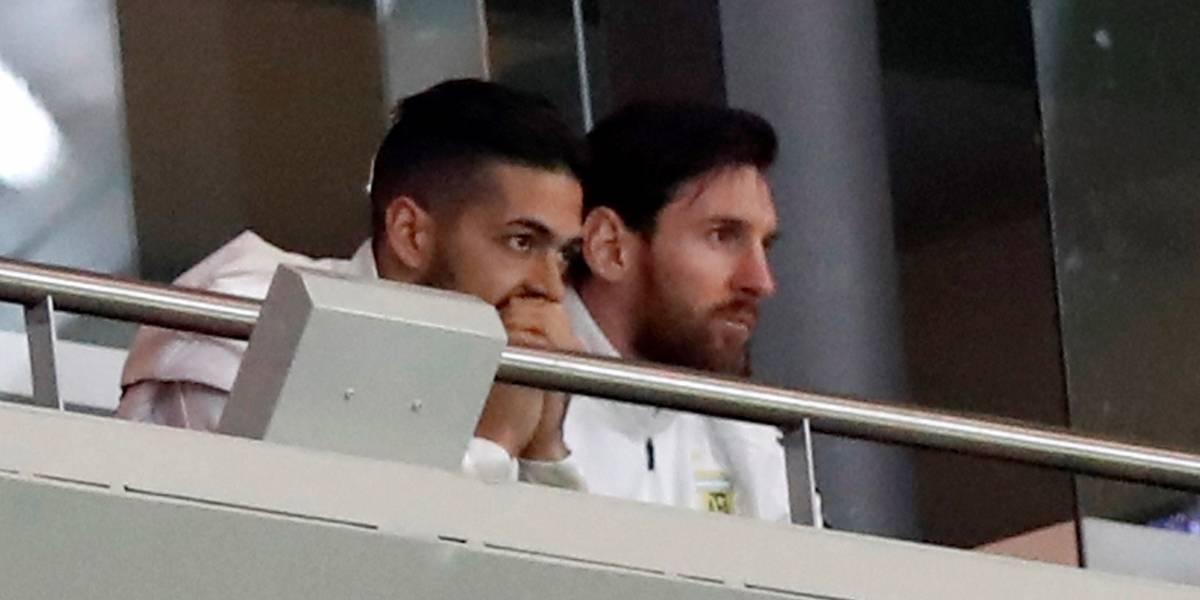Así reaccionó Messi a la goleada de España a Argentina