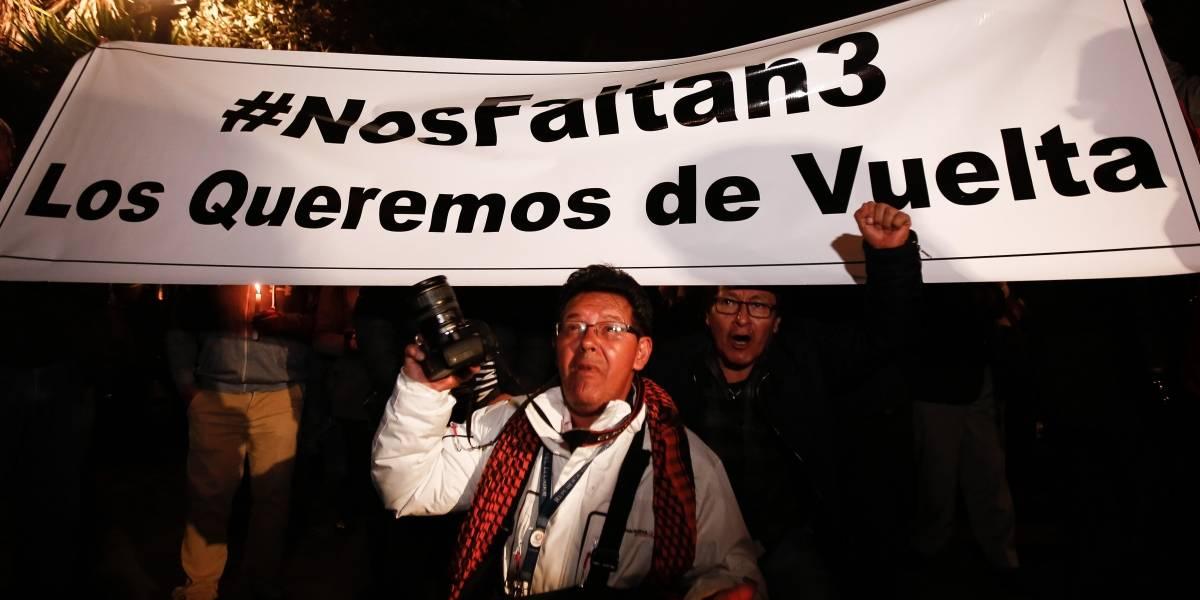 Fueron liberados periodistas ecuatorianos secuestrados en frontera colombiana