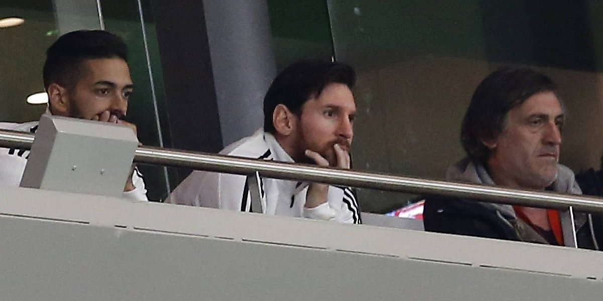 Lionel Messi no aguantó y no terminó de ver la humillación de Argentina ante España