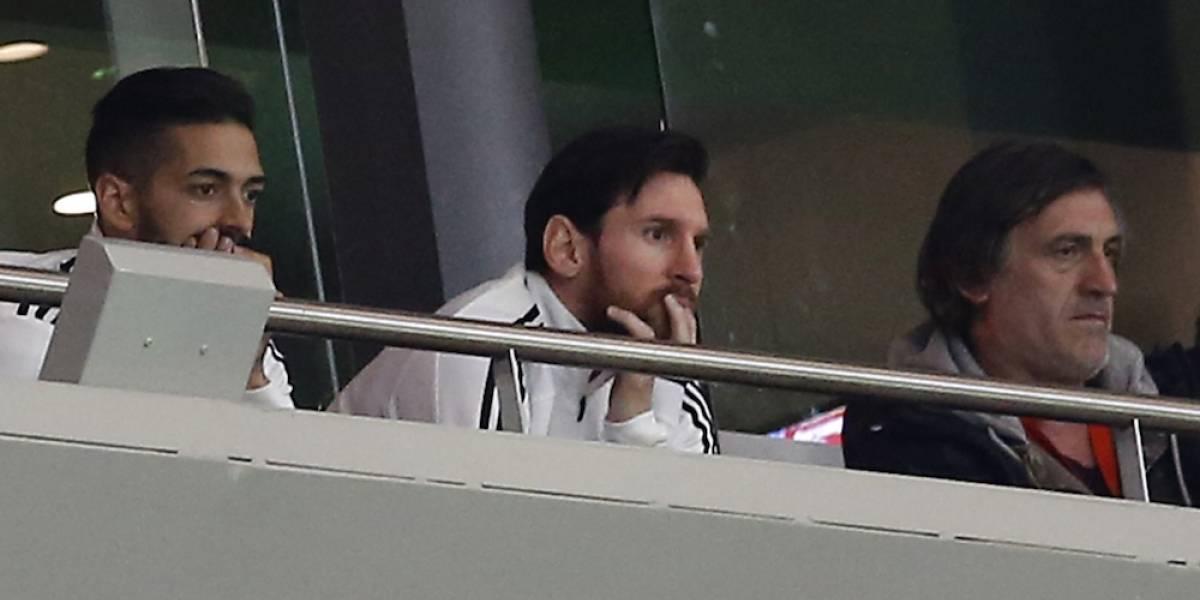 Messi abandona juego de Argentina por goleada