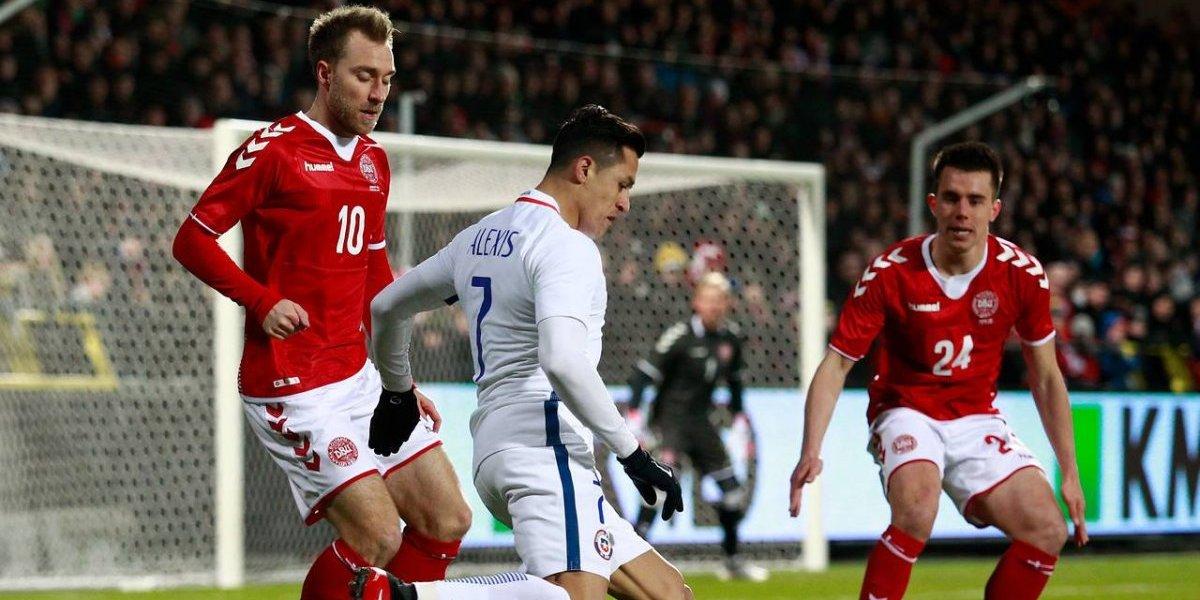 Chile mostró destellos de su luz pero no salió del cero ante la mundialista Dinamarca