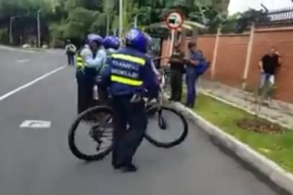 Bicicleta inmovilizada en Medellín