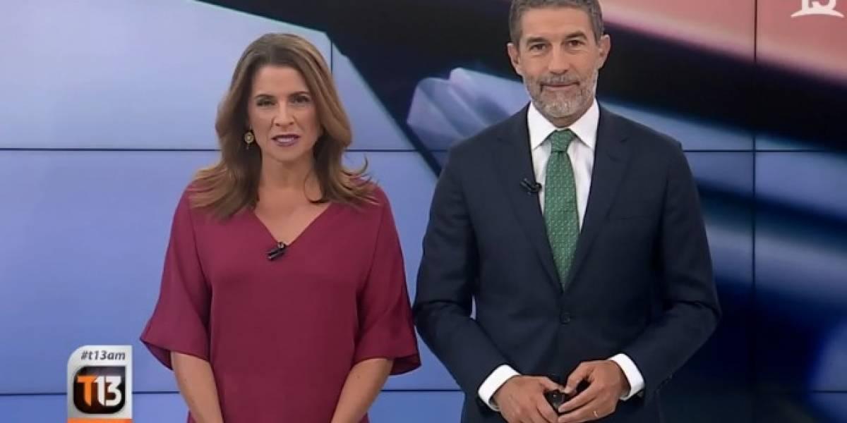 """""""Te voy a mostrar cu..."""": Periodista de Canal 13 se defiende y le tiran una silla en despacho que informaba portonazo a Felipe Avello"""