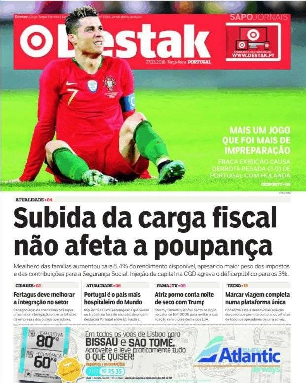 Destak, medio portugués