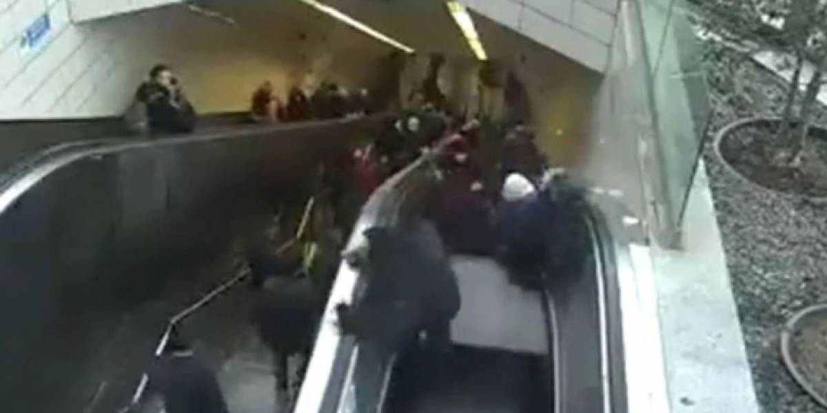 Hombre fue tragado por escalera mecánica en Turquía